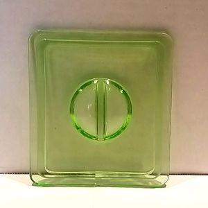 Vintage Lime Green Depression Glass Lid